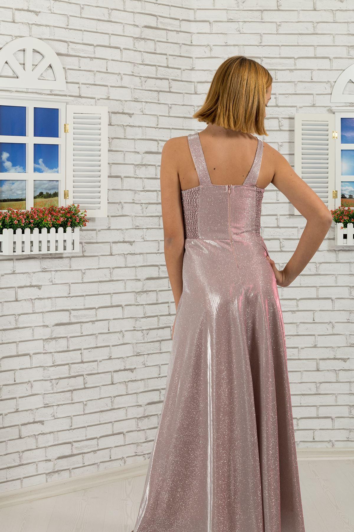 Талия и шея камень подробно, серебристая ткань девушка мальчик вечернее платье 480 порошок