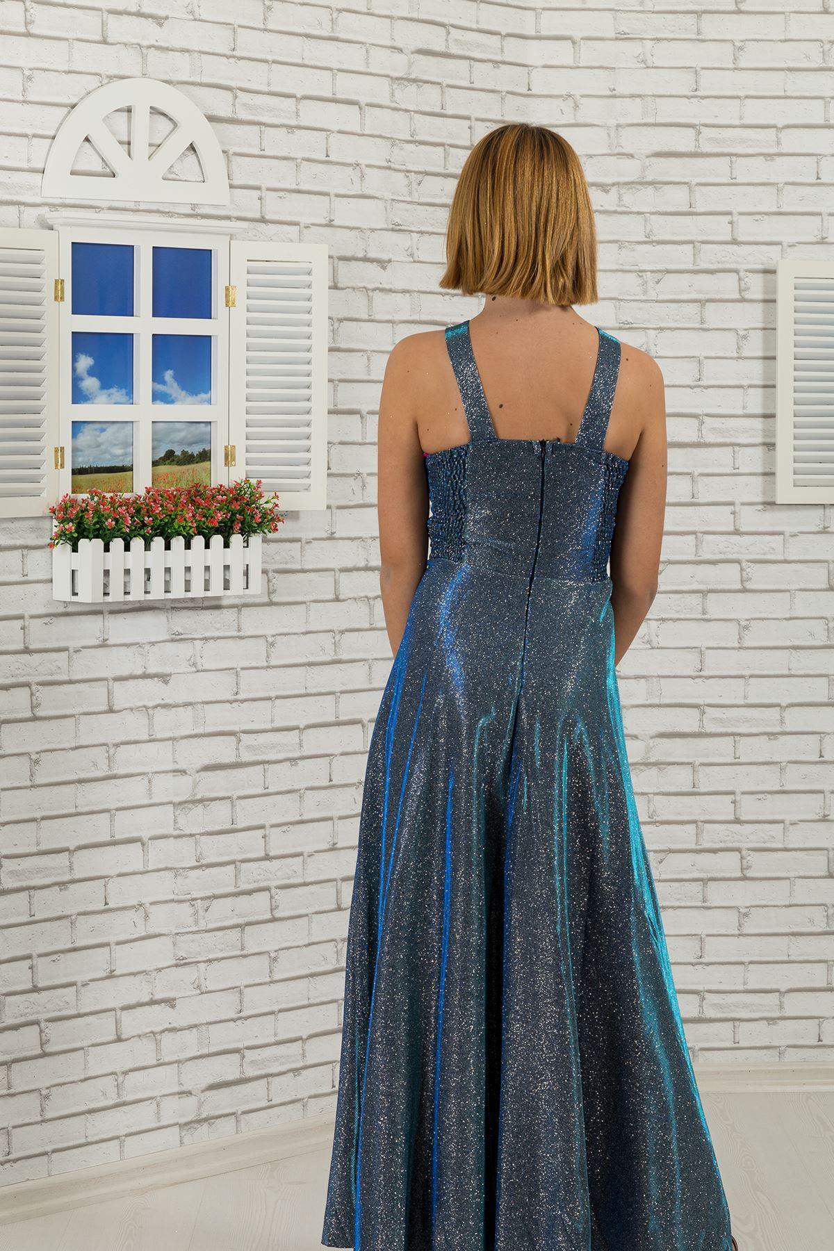 Талия и шея камень подробно, серебристая ткань девочка детское вечернее платье 480 парламентарий