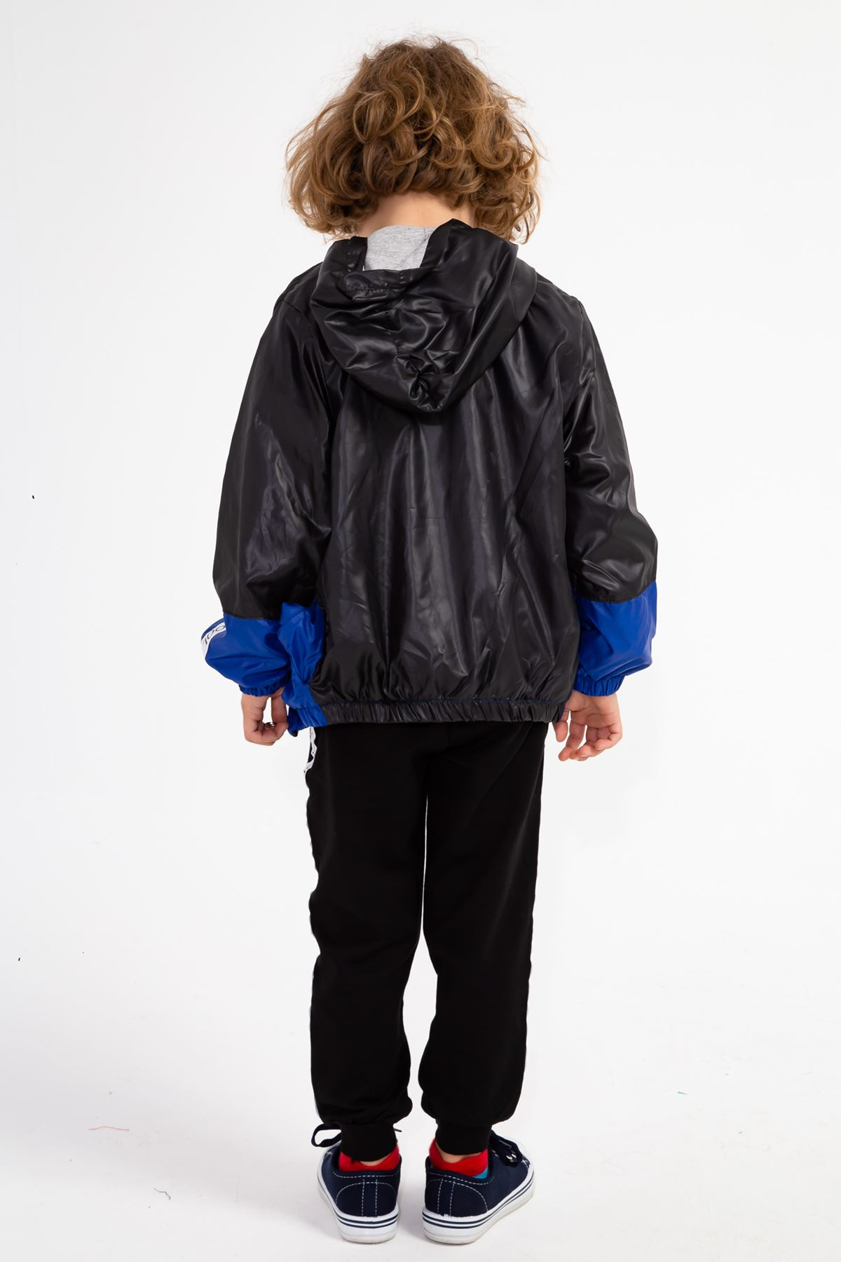 Erkek Çocuk Yağmurluklu Eşofman Takım Siyah