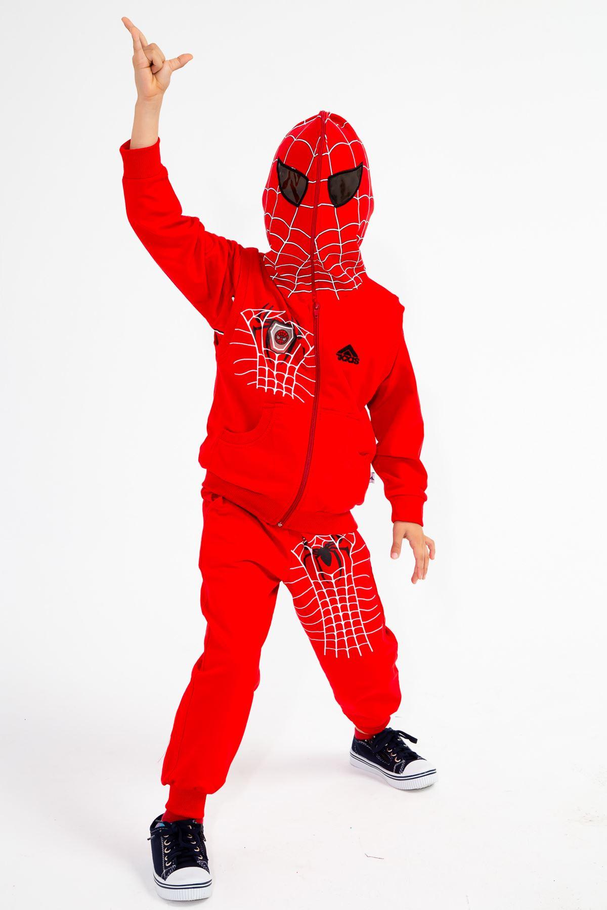 Erkek Çocuk Örümcek Adam Desenli Eşofman Takım